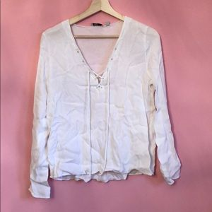 White Wilfred Free Top with Front Tie